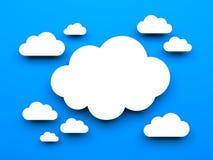 Cloud metaphor Royalty Free Stock Photos
