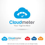 Cloud Meter Logo Template Design Vector. This design suitable for logo or icon Stock Photos