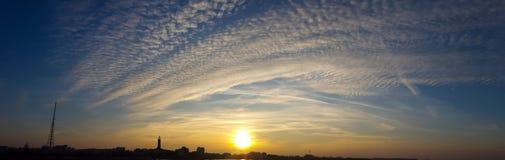 cloud miasta Zdjęcie Royalty Free