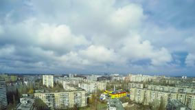cloud miasta Timelapse 4K zbiory