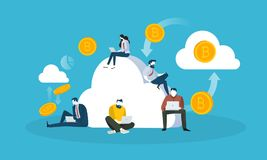 Cloud mining Royalty Free Stock Photography