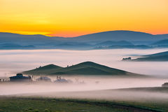 The cloud and mist dawn Stock Image