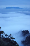 The cloud and mist of Sanqingshan mountai Royalty Free Stock Photo