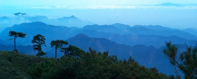 The cloud and mist of Sanqingshan mountai Royalty Free Stock Images