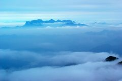 The cloud and mist of Sanqingshan mountai Royalty Free Stock Image