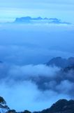 The cloud and mist of Sanqingshan mountai. Filming in Jiangxi, China.The Sanqingshan mountai is World Natural Heritage Stock Image