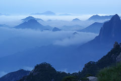 The cloud and mist of Sanqingshan mountain. Filming in Jiangxi, China.The Sanqingshan mountain is World Natural Heritage Royalty Free Stock Images