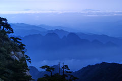 The cloud and mist of Sanqingshan mountain. The Sanqingshan has been listed as World Natural Heritage Royalty Free Stock Image