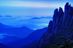 The cloud and mist of Sanqingshan mountain. The Sanqingshan has been listed as World Natural Heritage Stock Photography