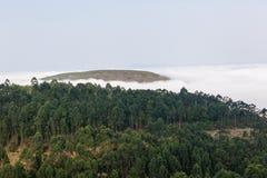 Cloud Mist Valley Hills Stock Image