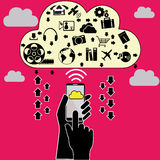 Cloud mobile Stock Images
