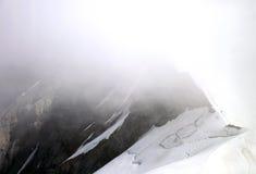 Cloud on Monch peak in Jungfrau region Stock Photography