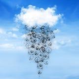 Cloud and money rain stock illustration