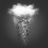 Cloud and money rain royalty free illustration