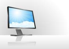 Cloud monitor Royalty Free Stock Photos