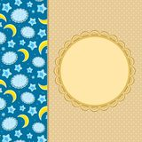 Cloud Moon Invitation Card Decoration Royalty Free Stock Images