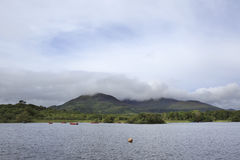 Cloud of mount near Lough Leane Lower Lake. Royalty Free Stock Image