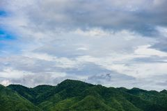 Cloud and mountain landscape Stock Image