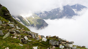 A cloud in mountains Royalty Free Stock Photos
