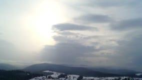 Cloud mountains sky sun stock footage