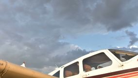 Cloud move above plane stock video footage