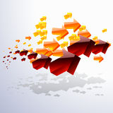 Cloud of moving around arrows. Vector illustration of a cloud of moving around arrows Stock Photography