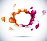 Cloud multicolor background. Stock Images