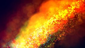 Cloud of multicolored particles in the air like sparkles on a dark background with depth of field. beautiful bokeh light. A cloud of multicolored particles in royalty free stock photo