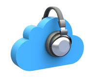 Cloud music concept Royalty Free Stock Photo