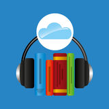 Cloud music concept audio books graphic Royalty Free Stock Photography