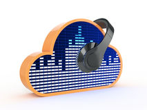Cloud music concept Royalty Free Stock Image