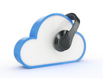 Cloud music concept Stock Images