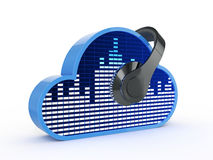 Cloud music concept Stock Photo