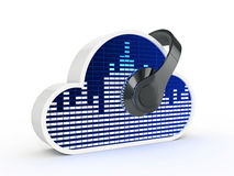 Cloud music concept Stock Image