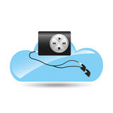 Cloud music concept mp3 Royalty Free Stock Image