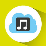 cloud music download connected design Stock Images