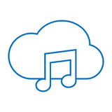 Cloud music storage Stock Images