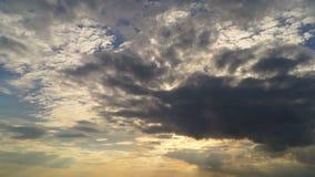 Cloud nature sunset stock video