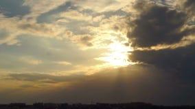 Cloud nature sunset stock video footage