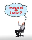 Cloud with need a job Royalty Free Stock Image