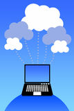 Cloud network royalty free illustration