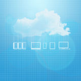 Cloud network background Stock Photo
