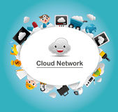 Cloud network card Stock Photo