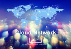 Cloud Network Communication Connection Web Concept. Web Design Cloud Network Concept Stock Photo