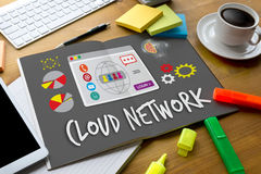 Cloud Network Communication  Globalization Cloud Computing diagr Royalty Free Stock Image