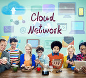 Cloud Network Computing Digital Information Concept Royalty Free Stock Photos
