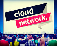 Cloud Network Computing Storage Online Concept stock photography