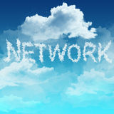 Cloud network  concept Royalty Free Stock Photo