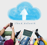 Cloud Network Connecting Technology Internet Online Concept Royalty Free Stock Image