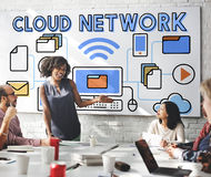 Cloud Network Connection Data Information Storage Concept Royalty Free Stock Photos